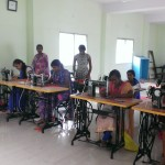 Stitching training to women in Dalit Sangh's Skill Development Training Centre @ Bodhi, Sohagpur