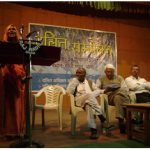 Gangabai delivering her speech in Dalit Conference at Delhi