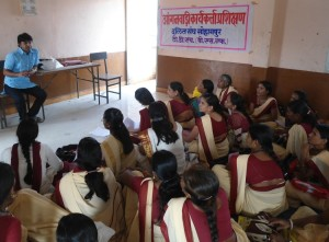 Training given to ICDS workers on tackling field issues while working with women & children